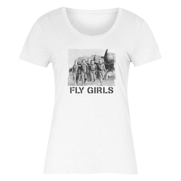 FLY GIRLS Women's T-Shirt (White)