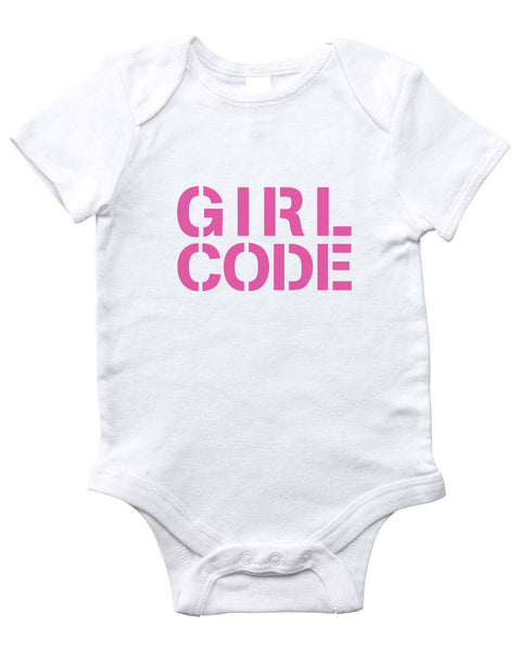 GIRL CODE Onesie (White)