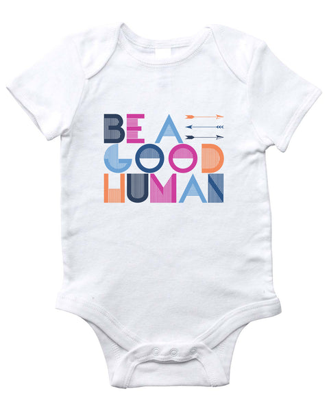 GOOD HUMAN Onesie (White)