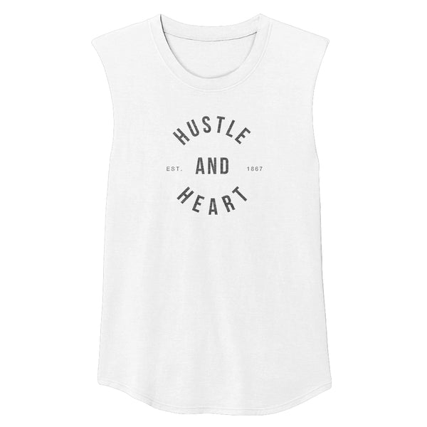 HUSTLE & HEART Unisex Muscle Tee