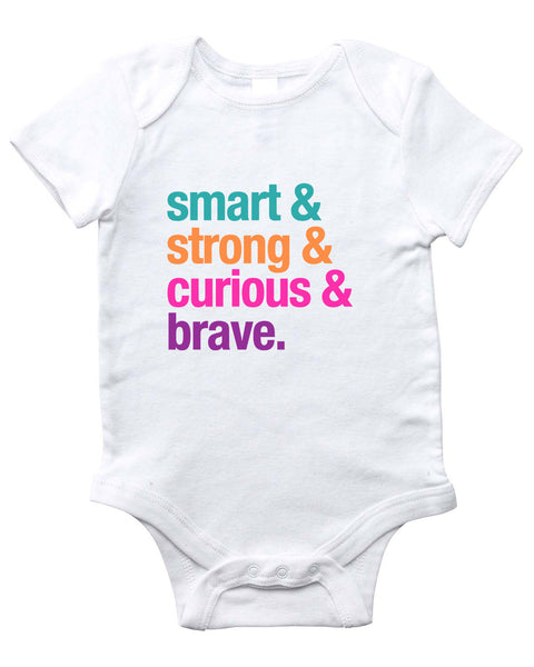 SMART & STRONG Onesie (White)