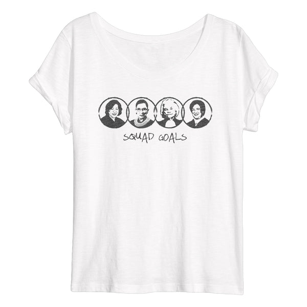 SQUAD GOALS Flowy Women's T-Shirt
