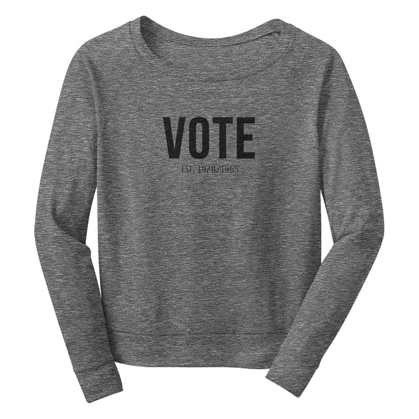 VOTE Wide Neck Sweatshirt