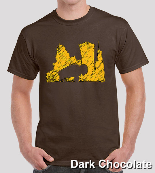 Bflo-Brand-SketchTee-Gold---Dark-Chocolate