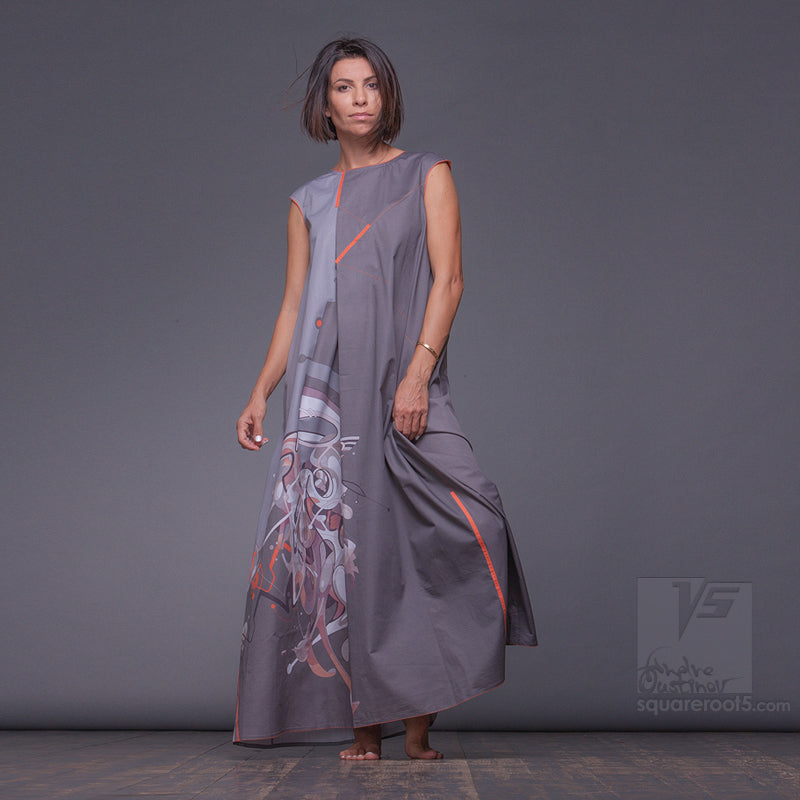 "DRESS ""ATLANTIS"" MODEL ""GYC"" GRAY COSMIC by Squareroot5 wear"