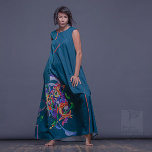 "Dress ""Atlantis"" model ""GNC"" Emerald Cosmic by Squareroot5 wear"