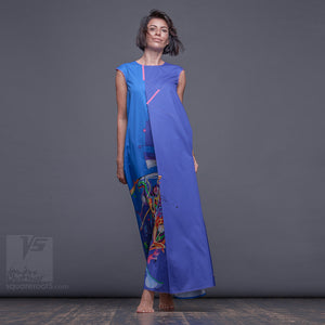 "Avant garde and unique maxi dress ""Atlantis"" by Squareroot5 wear"
