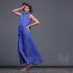 Avant-garde  and unique, Japanese stile. Long summer dress for tall women.