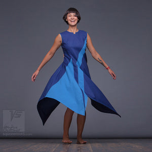 "DRESS ""DOLPHIN"" MODEL ""UC"" ULTRAMARINE CERULEAN by Squareroot5"