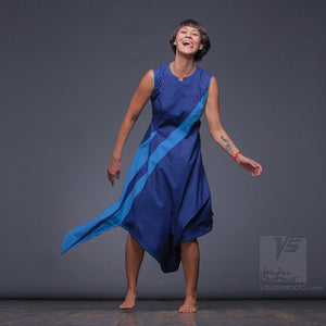 "Futuristic summer dress ""Dolphin"" for positive and creative women. Experimental dance dresses"