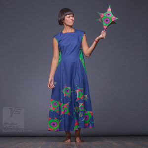 Avant-garde and unique, Japanese style. Long summer dress for tall women.