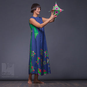 Unusual wedding gift idea. Experimental dress with Octahedron geometrical pattern.