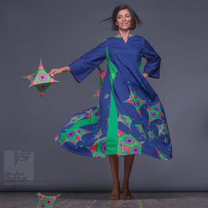 Unusual and non traditional  long summer dresses. Organic avant-garde clothes for dance
