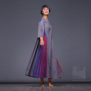 "Suitable for expecting mothers long dress ""Revolution""by Squareroot5 wear"