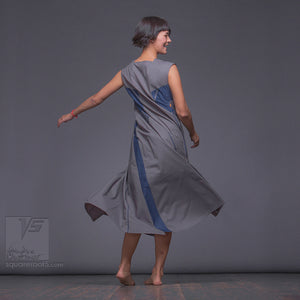 Grey and strict modern dress by Squareroot5 wear