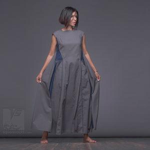 "Achromatic and geometrical design dress ""Revolution"" Grey. unusual birthday gifts for her"