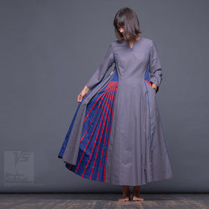 "Experimental and avant-garde, long pleated dress 'Revolution"". Unusual present for her."