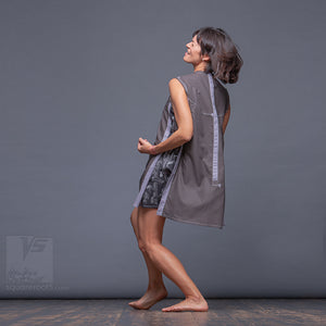 Avant-garde  and unique, festival stile. Short summer dress for tall women.