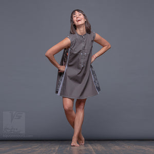 Short sleeve geometrical dresses. Future clothing by Squareroot5 wear.