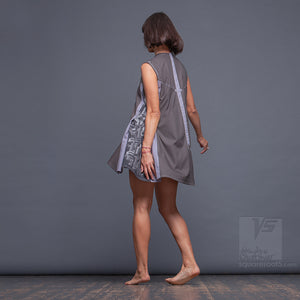 "Dress ""Cosmic Tetris"" model ""SG"" Short Gray"
