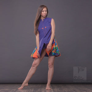 "Avant garde and unique short dress ""Cosmic Tetris"" by Squareroot5 wear."