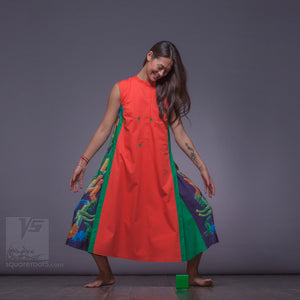 "Long dress ""Cosmic Tetris"" by Squareroot5 womens clothes."