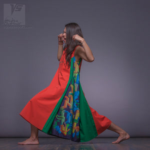 Long asymmetrical innovation dress by Squareroot5 women's clothes.