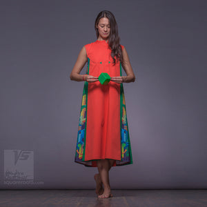 "Futuristic and non traditional long dress ""Cosmic Tetris"" for her"