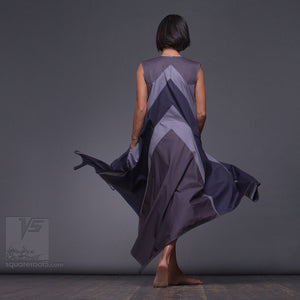 Geometrical unusual aesthetic dress by Squareroot5. Geometric design women clothes.