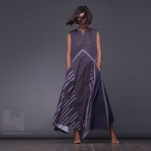 "Avant garde and Innovation long dress ""Wingbeat"". Designer dresses for the mysterious woman"