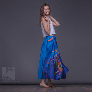 Avant garde long summer festival skirt  by Squareroot5 wear.