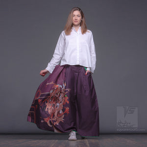 Non traditional maxi purple skirt.