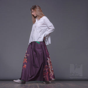 Asymmetric unusual maxi skirt. Japanese style