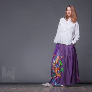 Avant-garde long summer festival skirt  by Squareroot5 wear.