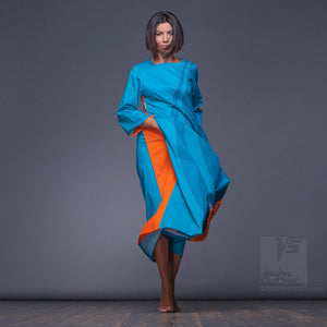 "Long sleeve dresses ""Water"" with eccentric design by Squareroot5"
