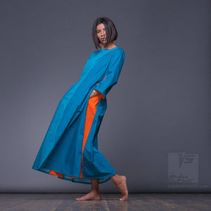 Experimental Turquoise women clothes. Future dresses. Unique gifts for her.