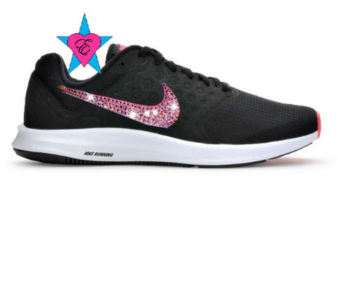 Black/Pink/Wht Women's Nike Downshifter 7 Running Shoes