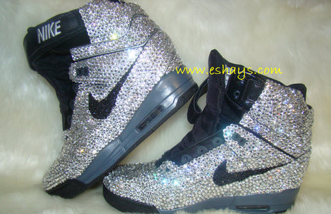 Glitter Nikes for Wedding