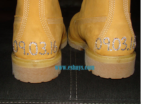 Rhinestone Wedding Timberlands