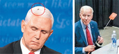 Mike Pence Fly on head meaning