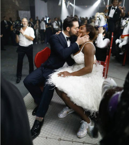 Vogue Serena Williams's Bedazzled Nike Wedding Sneakers