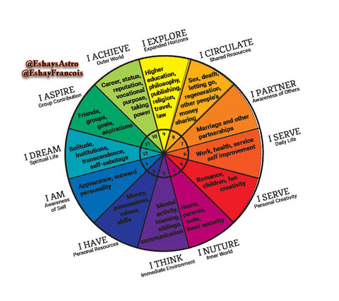Astrology Pie Chart with Characteristics
