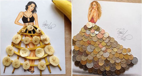 everyday objects to create stunning dress designs