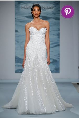Mark Zunino Floral Wedding Dress
