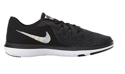 Swarovski Crystals Black White Women's Nike Flex Supreme TR 6 Training