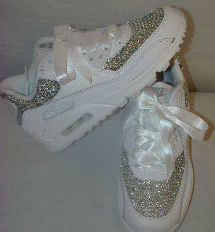 White Ribbon Laces Crystal Nike Air Max 90 42493ce216