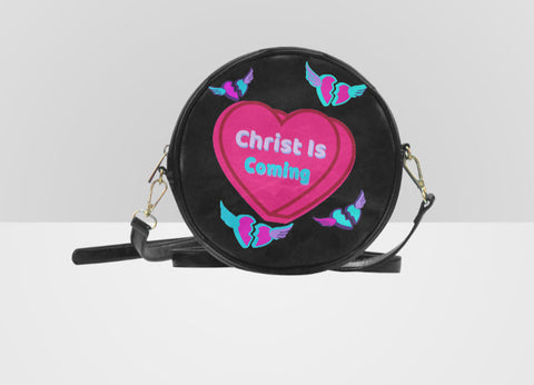 Heart Kisses Round Messenger Bag