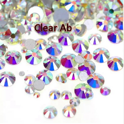 clear crystal ab glass flatback rhinestones