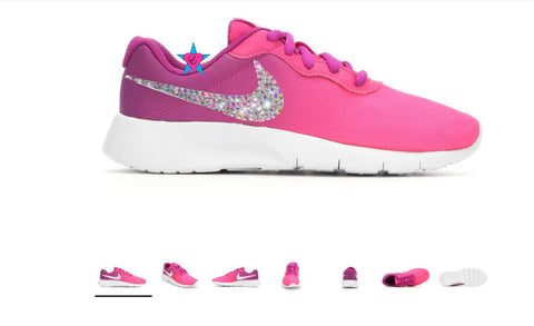 Little Kid - Crystal Bedazzled Nike Tanjun Fade Pink 10.5-3