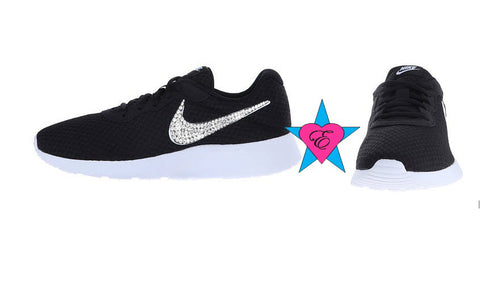 NIKE Black White Tanjun Kids